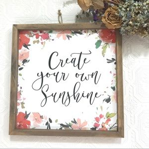 Create Your Own Sunshine Wall Graphic in Box Frame